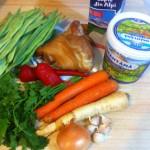 Supă / ciorbă de fasole verde sau păstăi, cu afumătură